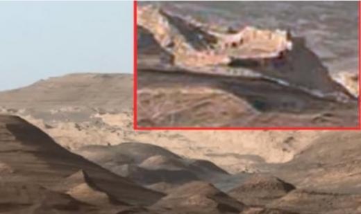 Curiosity сфотографировал руины крепости на Марсе