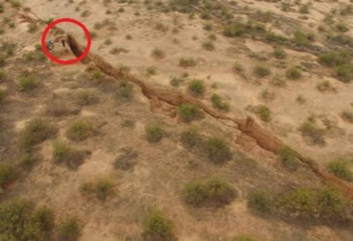 Жуткая аномалия в штате Аризона: Земля раскололась