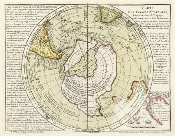 Пири Рейс карта Антарктиды