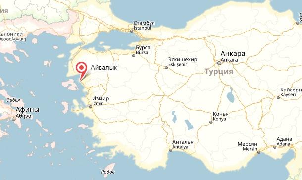 Снова сильное землетрясение в Турции, в районе города Айвалык