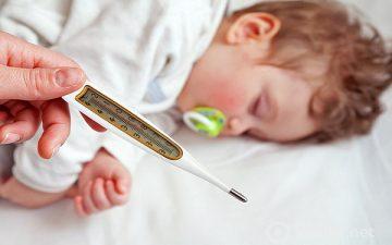Какую температуру сбивать у ребёнка